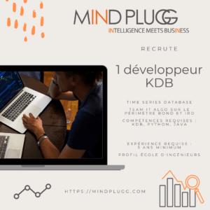 Mindplugg recrute un développeur KDB. Equipe IT algo