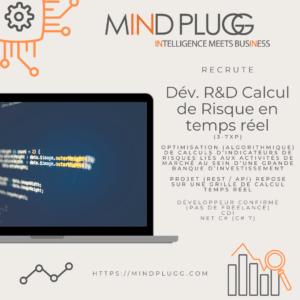 Mindplugg recrute un développeur pour calcul de risque en temps réel. Pricing Fixed Income